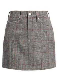 Helmut Lang Femme Hi Plaid Virgin-Wool Mini Skirt