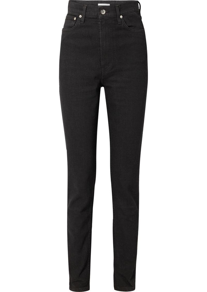 Helmut Lang Femme Hi Spikes High-rise Straight-leg Jeans