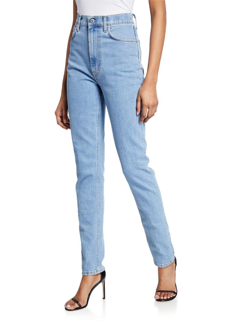 Helmut Lang Femme Hi Spikes Straight-Leg Ankle Jeans