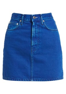 Helmut Lang Femme High-Rise Denim Mini Skirt