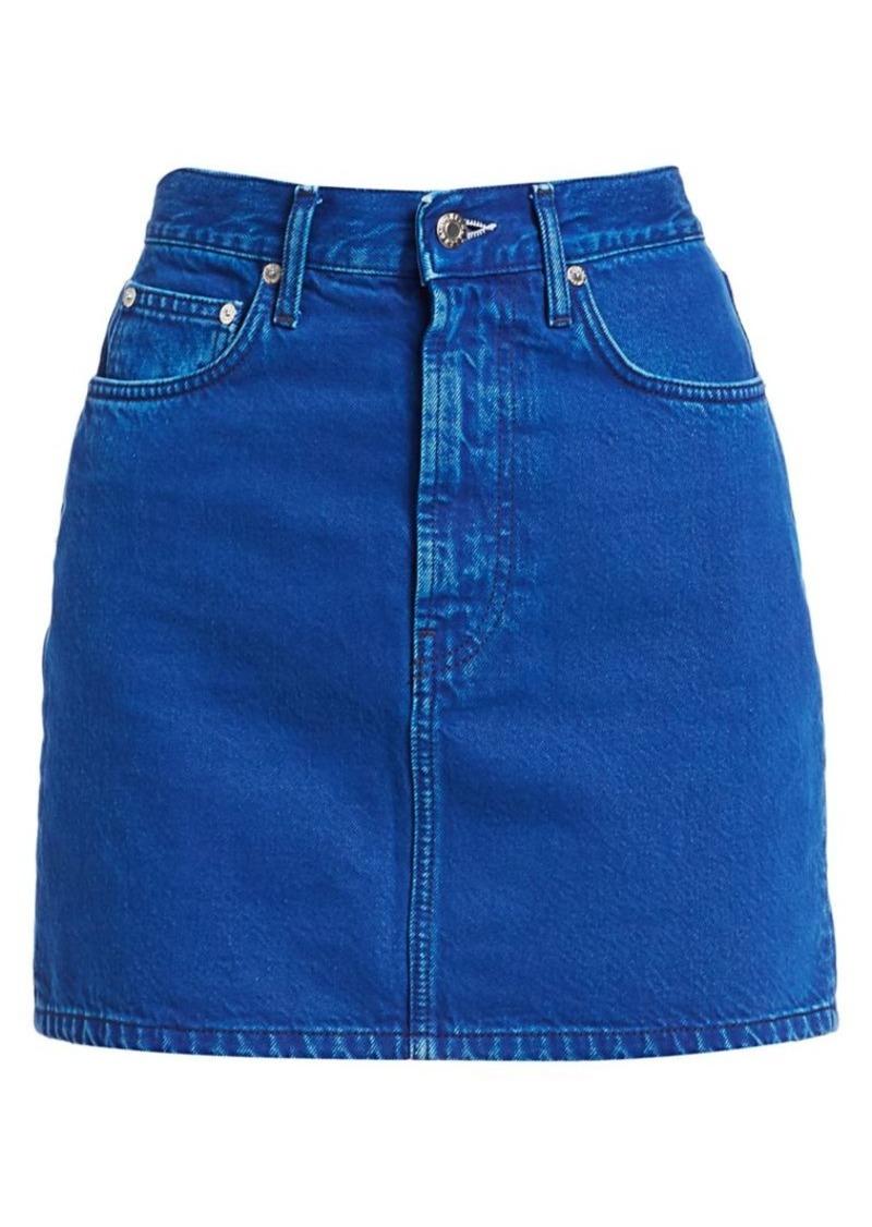Helmut Lang Femme High-Rise Denim Mini Skirt