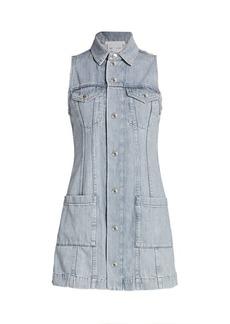 Helmut Lang Femme Sleeveless Denim Mini Dress