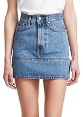 Helmut Lang Femme Utility Mini Denim Skirt
