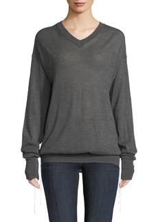 Helmut Lang Fine Cashmere V-Neck Sweater