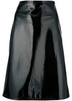 Helmut Lang fitted A-line skirt