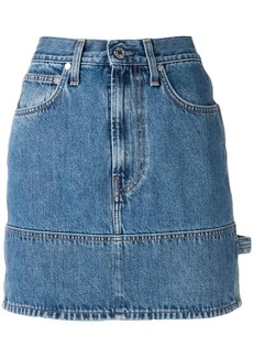 Helmut Lang fitted denim skirt