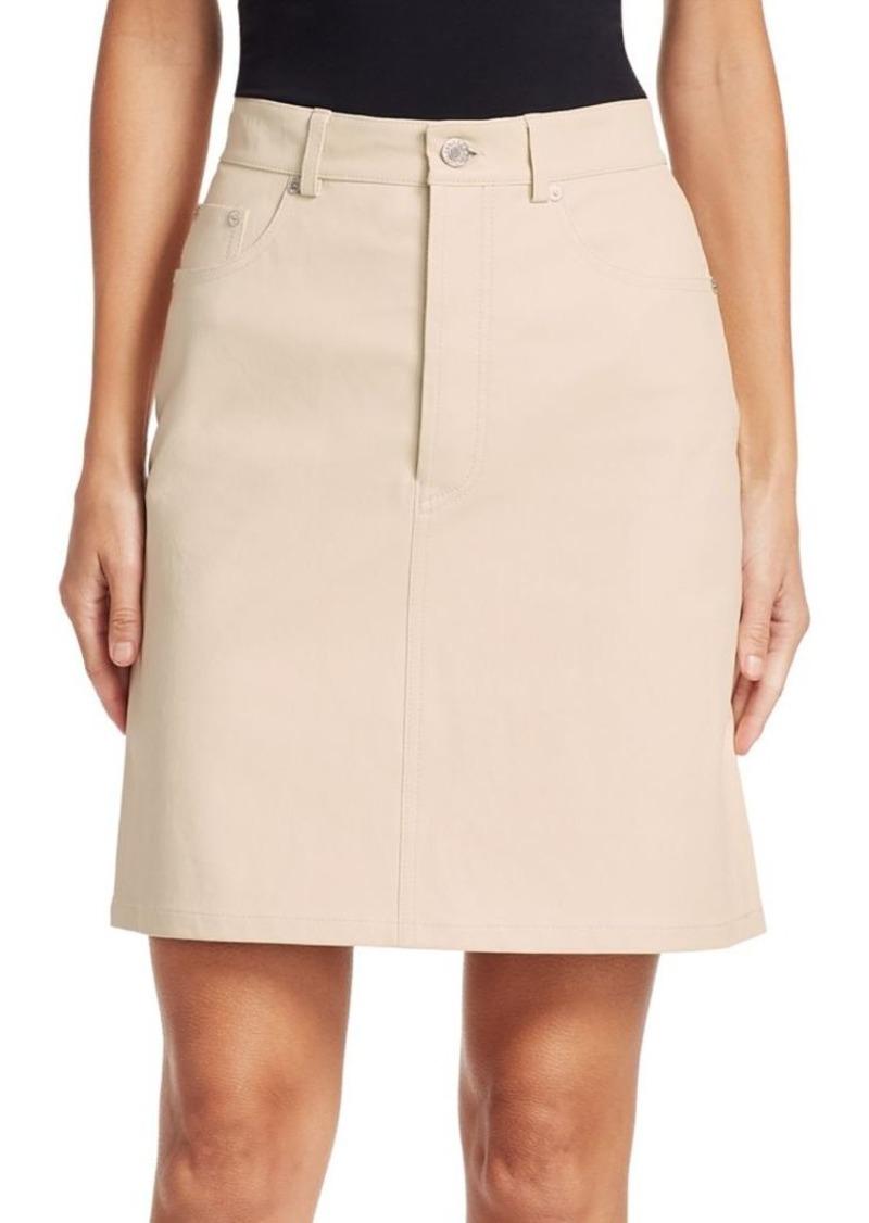 Helmut Lang Five-Pocket Leather Skirt