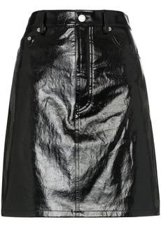 Helmut Lang five-pocket patent leather skirt