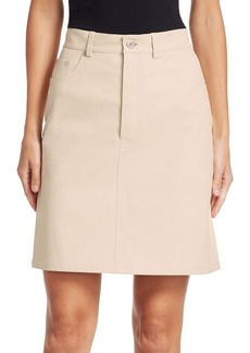 Helmut Lang Five-Pocket Leather Skirt