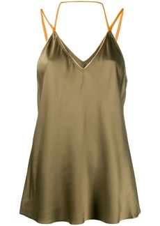 Helmut Lang flared camisole top