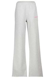 Helmut Lang Flared cotton jersey sweatpants