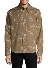 Helmut Lang Floral Cotton Long-Sleeve Shirt