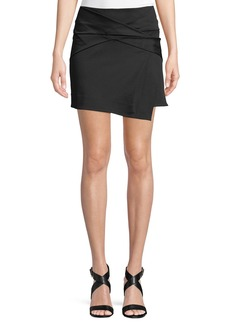 Helmut Lang Folded Draped Mini Skirt