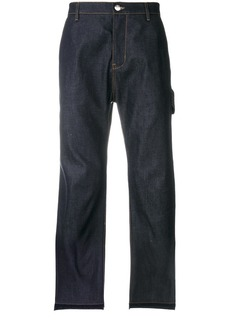 Helmut Lang frayed cropped jeans