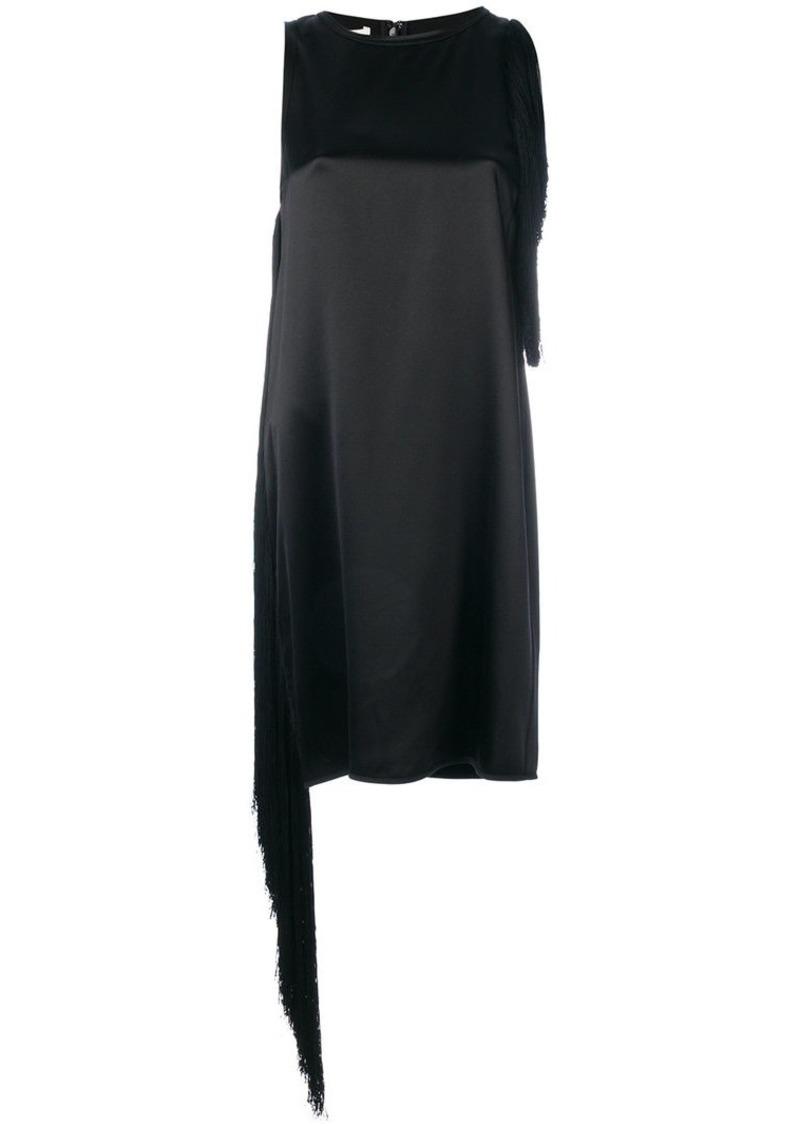 Helmut Lang fringed mini shift dress