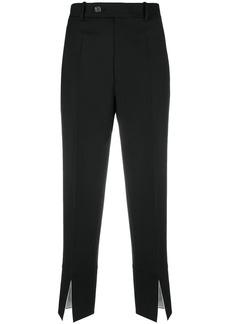 Helmut Lang front slit suit trousers