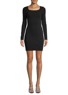 Helmut Lang Gala Cutout-Back Long-Sleeve Dress