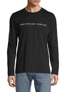 Helmut Lang Graphic Long-Sleeve Cotton Tee