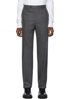 Helmut Lang Grey Flannel Pinstripe Trousers