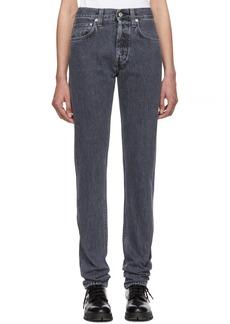 Helmut Lang Grey Hi Straight Jeans