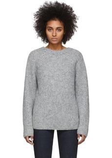 Helmut Lang Grey Wool & Alpaca Ghost Sweater