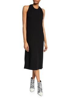 Helmut Lang Halter-Neck Jersey Cotton Dress