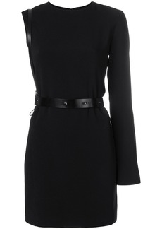 Helmut Lang harness belt mini dress
