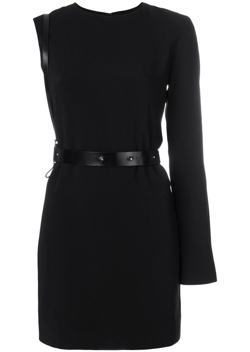 Helmut Lang harness belt mini dress