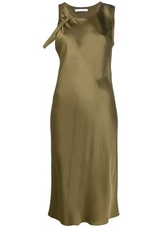 Helmut Lang harness detail satin dress