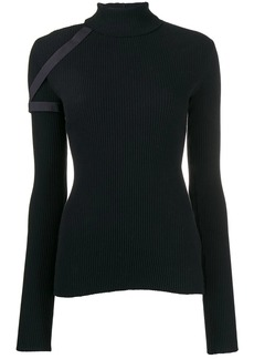 Helmut Lang harness roll neck sweater