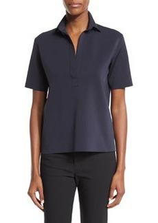 Helmut Lang Short-Sleeve Scuba Polo Shirt