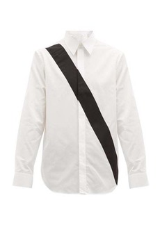 Helmut Lang Appliqué-band logo-print cotton shirt