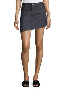 Helmut Lang Asymmetric 5-Pocket Denim Skirt