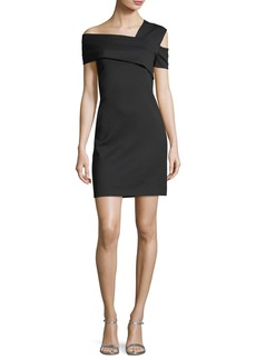 Helmut Lang Asymmetric Fitted Mini Dress