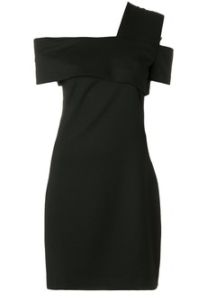 Helmut Lang asymmetric knee-length dress - Black