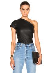 Helmut Lang Asymmetric Leather Top
