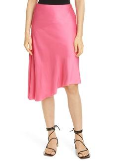 Helmut Lang Asymmetrical Satin Skirt