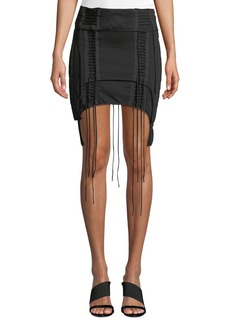 Helmut Lang Aviator Lace-Up Mini Skirt