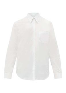 Helmut Lang Back logo-patch cotton shirt