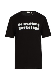 Helmut Lang Backstage waffle-knit cotton-blend T-shirt