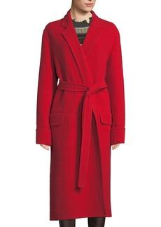 Helmut Lang Belted Wool Blanket Coat