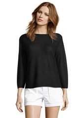 Helmut Lang black fine cashmere long sleeve ...