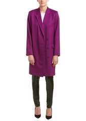 Helmut Lang Blazer Silk-Lined Wool Coat