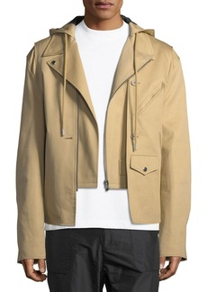 Helmut Lang Buildout Twill Moto Jacket