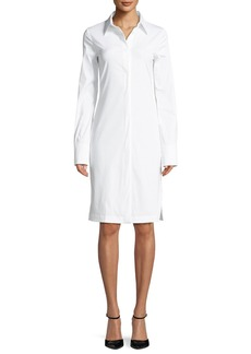 Helmut Lang Button-Down Long-Sleeve Cotton Shirtdress