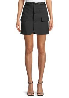 Helmut Lang Button-Front Blazer Mini Skirt