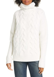 Helmut Lang Cable Knit Lambswool Sweater