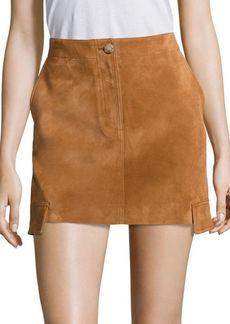 Cargo Suede Mini Skirt