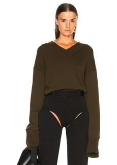 Helmut Lang Cashmere High V Neck Sweater