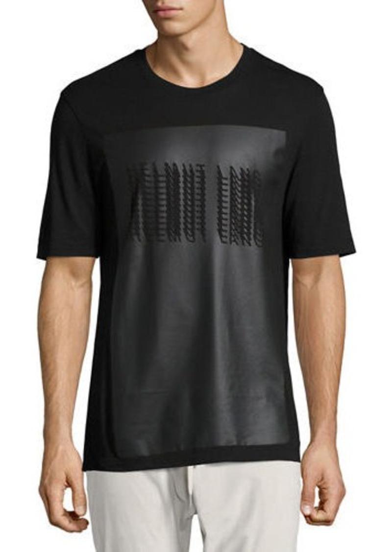 c2a5ba95 Helmut Lang Helmut Lang Coated Glitch Logo T-Shirt | T Shirts